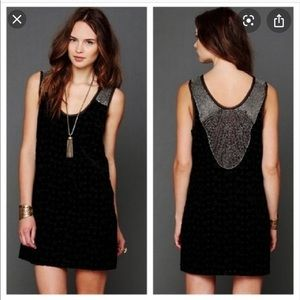 Free people velvet beaded dress